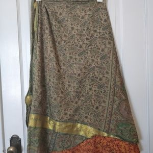 Sari wrap skirt double sided (size 12-20)